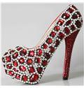 &  Rhinestones Pearls Wedding Shoes