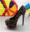 2013 New Arrival Stiletto Heel Platform Rhintone High Heel Shoes
