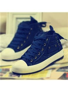 2014 New Arrival Comfortable & Concise Lace-Up Canvas Shoes