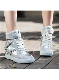 2014 New Arrival Fashionable Rivets Increased Within Casual Shoes