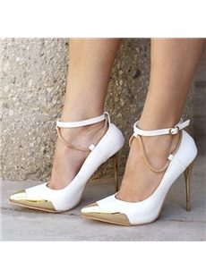 Amazing Ankle Strap Point-Toe Stiletto Heels