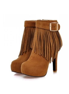 Appealing Tassel Decoration Ankle Boots