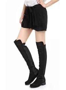 Artistic Comfortable Black Flat Boots