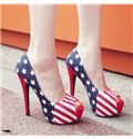 Assorted Color Peep-toe Platform Heels