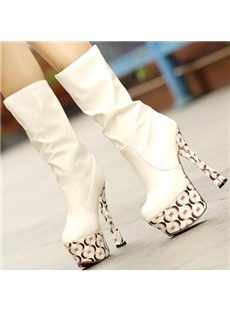 Attractive Assorted Colors Platform High Heels Boots