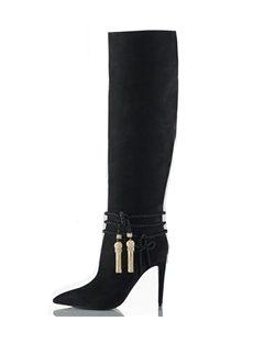 Attractive Suede Men's Killer Knee High Boots