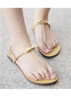 Best Sheep Leather Ankle Strap Flat Sandals