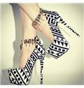 Black & White Contrast Colour Coppy Leather High Heel Shoes