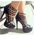 Buckle Cut-Outs Dress Sandals