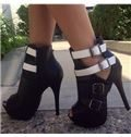 Celebrity Contrast Colour Platform Sandals