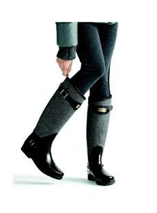 Chic Split Joint Flat Knee High Boots with Buckle