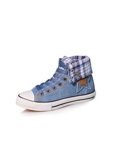 Classy Star Applique All-matched Canvas Womens Shoes