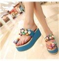 Colorful Slipper with Colorful Pearls