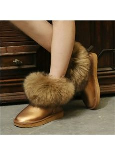 Comfortable Animal Hair Snow Boots
