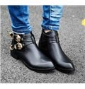 Conciese Flat Boots with Buckles