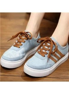 Concise Lace-up Canvas Shoes