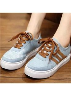 Concise Lace-up Canvas Shoes