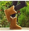 Concise Warm Snow Boots With Rivets