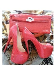 Cool Show Red Patent Leather High Heel Shoes