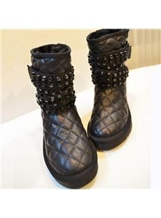 Cool Show Rivets Comfortable Snow Boots