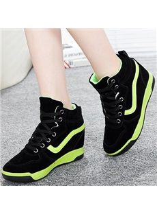 Cool Solid Color High-top In-elevator Sneaker
