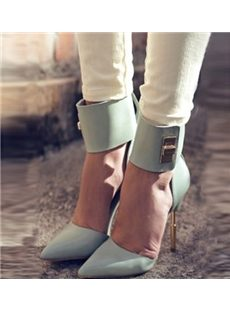 Elegant Beautiful Women Wearing Pointed-toe Heels