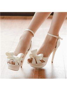 Elegant Bowknot Ankle Strap Dress Sandals