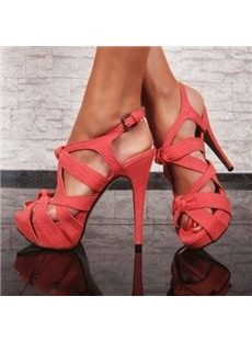 Elegant Cut-Outs Platform Sandals