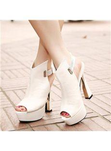 Elegant OL Style Platform Sandals