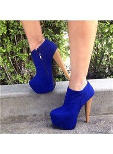 Elegant Platform Heels Ankle Boots