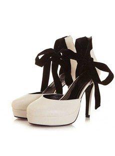 Elegant Platform Stiletto Heel Round-toe Women's Shoes