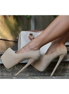 Elegant Suede Platform Heels