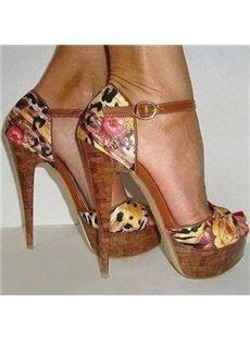 Exquisite Contrast Color Satin Dress Sandals