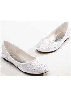 Fabulous Wedding/Party Beading Flat Shoes