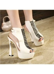 Fancy Nightclub Wearing Strange Heel Platform Sandals