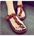 Fancy Three Colors Flat Sandals