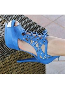 Fantastic Coppy Leather Cut-Outs Dress Sandals