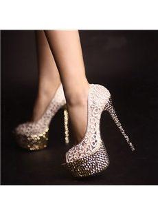 Fantastic Lace Mesh Peep-toe Heels