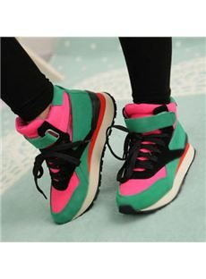 Fashionable Contrast Color Round-Toe Casual Shoes