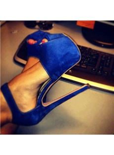 Fashionable Solid Color Peep Toe Stiletto Heel Platform High Heel Shoes