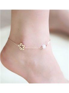 Glamorous Flower Pearl Anklets