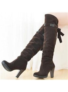 Glamour Round Toe Large Size Boots