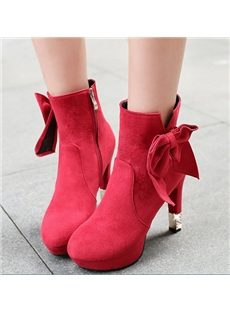 Gorgeous Bowknot Beautiful Women Ankle Boots