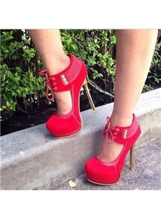 Gorgeous Party Girl Ankle Strap Platform Heels