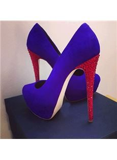 Gorgeous Purple Suede Platform High Heel Shoes