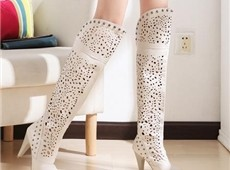 Graceful Cut-Outs Over Knee High Boots