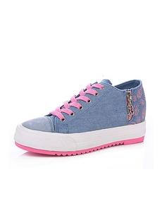 Hansome Metal Zipper Canvas Womens Elevator Shoes