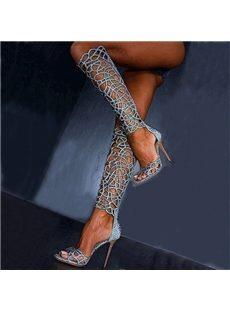 Hot Cut-Outs Stiletto Dress Sandals