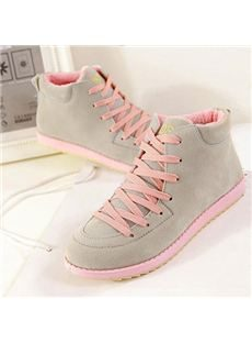 New Arrival Add Wool Flat Lace-Up Casual Shoes
