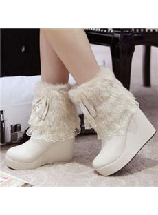 New Arrival Cony Hair Like Snow Boots